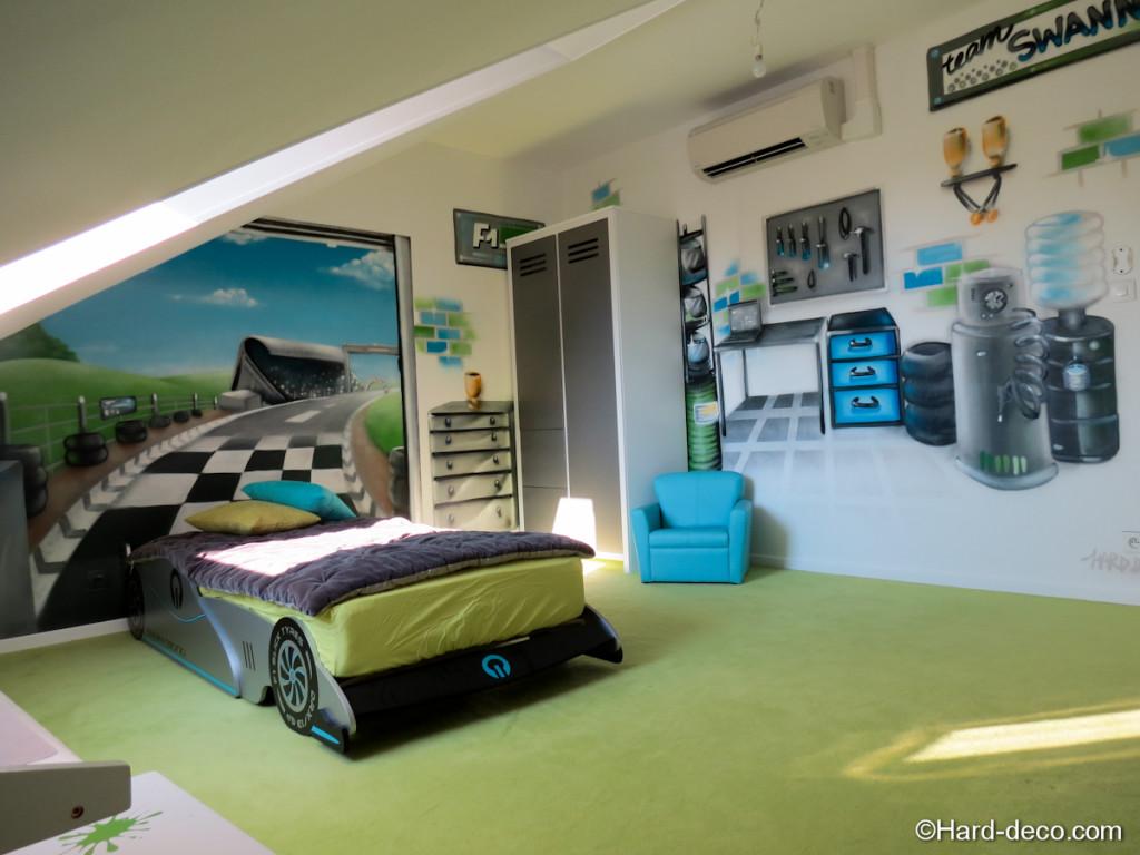 idee deco chambre garcon theme voiture - visuel #5