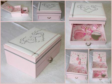 boite a bijoux en bois pour petite fille visuel 2. Black Bedroom Furniture Sets. Home Design Ideas