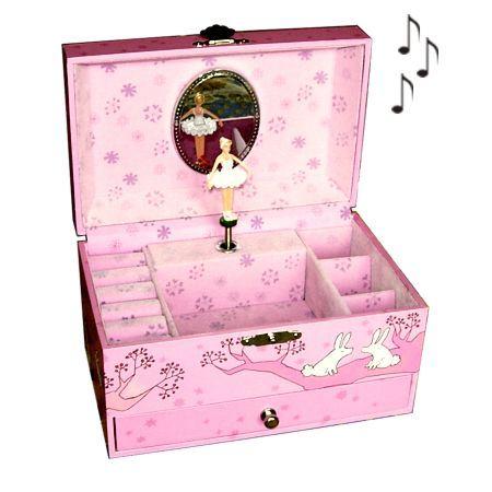 boite a bijoux en bois pour petite fille visuel 1. Black Bedroom Furniture Sets. Home Design Ideas