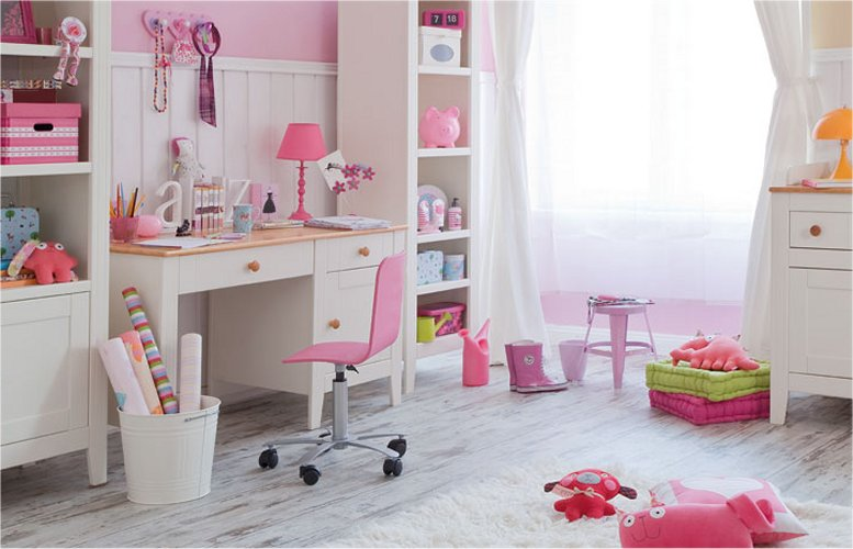 bureau pour chambre fille visuel 4. Black Bedroom Furniture Sets. Home Design Ideas