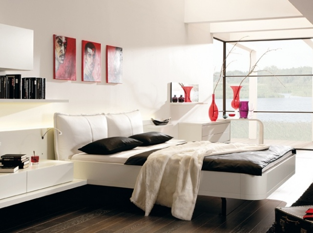chambre decoration contemporaine visuel 5. Black Bedroom Furniture Sets. Home Design Ideas