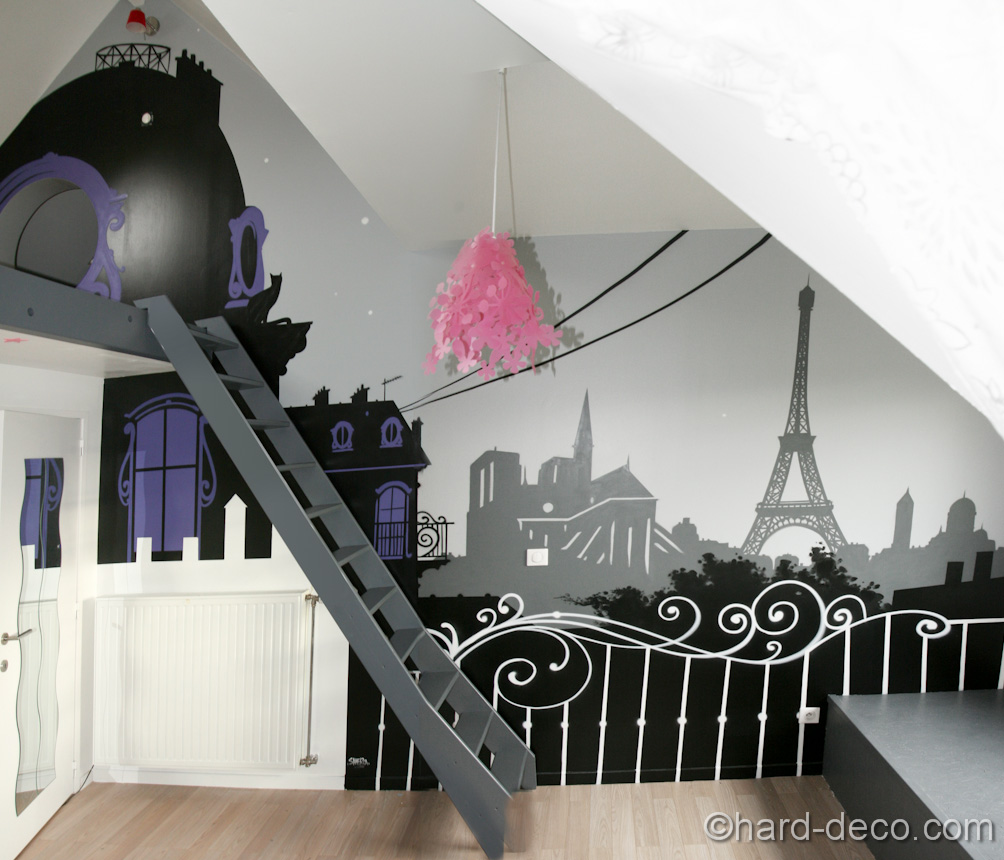 D co chambre style paris for Decoration 75019