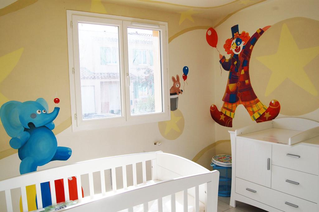 Deco chambre bebe cirque visuel 7 for Fabriquer deco chambre bebe