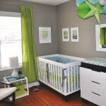 deco chambre bebe garcon bleu et vert