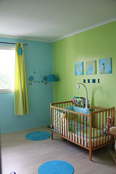 deco chambre bebe garcon bleu et vert visuel 2. Black Bedroom Furniture Sets. Home Design Ideas