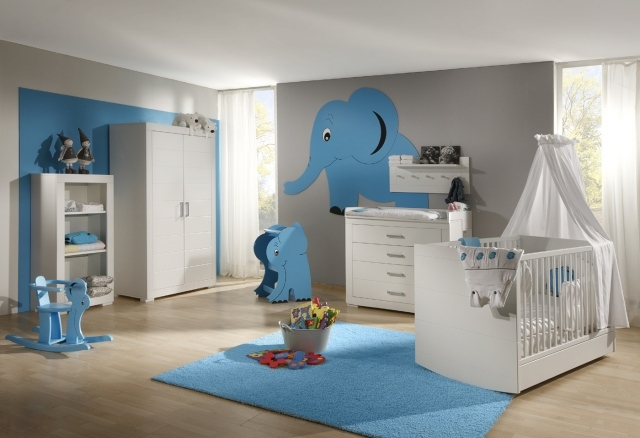 deco chambre bebe garcon bleu et vert visuel 9. Black Bedroom Furniture Sets. Home Design Ideas