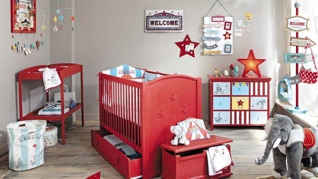 Awesome chambre bebe rouge et blanc pictures design trends 2017 déco