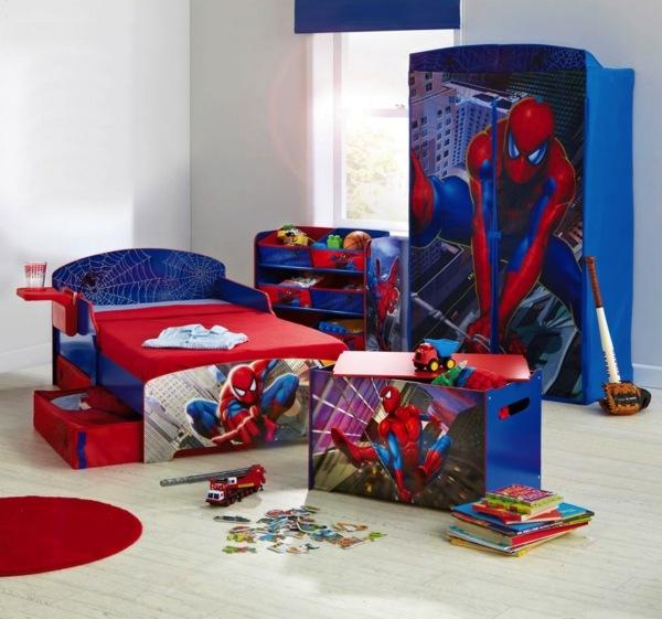 deco chambre garcon spiderman visuel 3. Black Bedroom Furniture Sets. Home Design Ideas