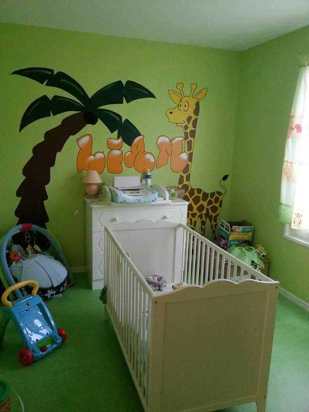 Deco chambre jungle bebe for Chambre jungle auchan