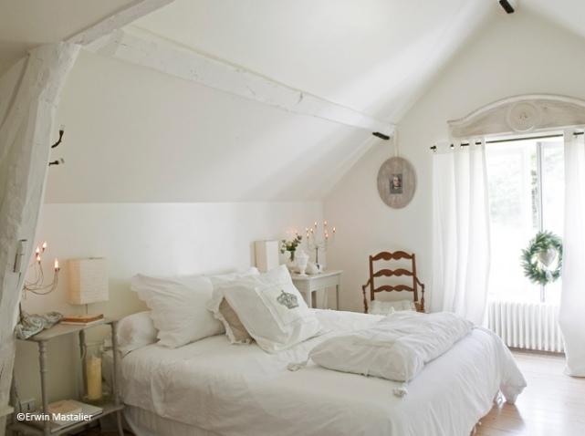 deco chambre romantique blanc - visuel #4