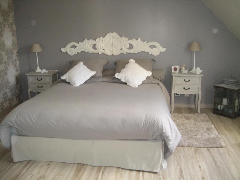 deco chambre romantique blanc - visuel #5