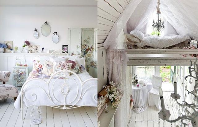 deco chambre style shabby visuel 1. Black Bedroom Furniture Sets. Home Design Ideas