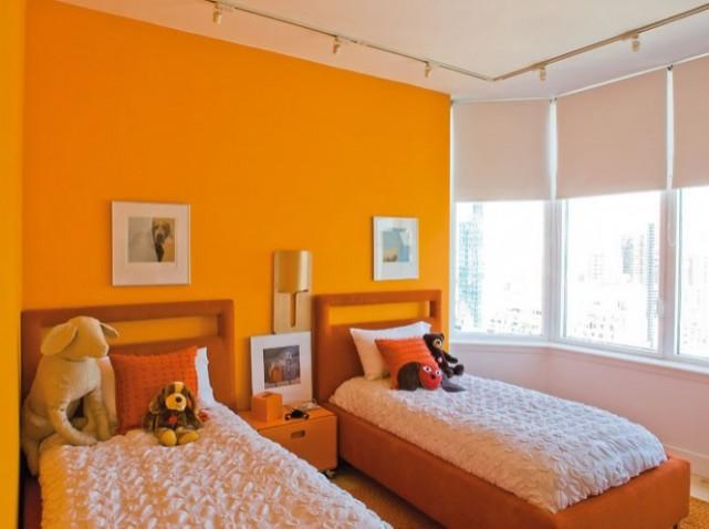 D co chambre 2 lits - Peinture chambre vert et gris ...