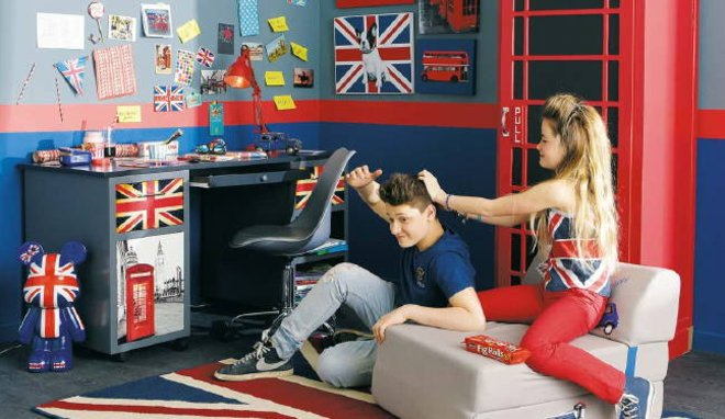 decoration chambre ado british