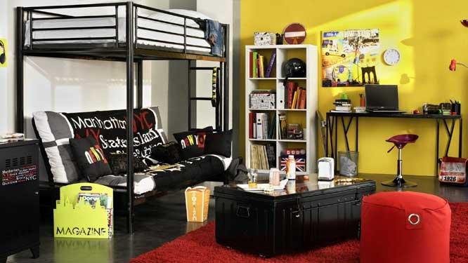 Chambre Ado Urbain : Déco chambre ado style urbain