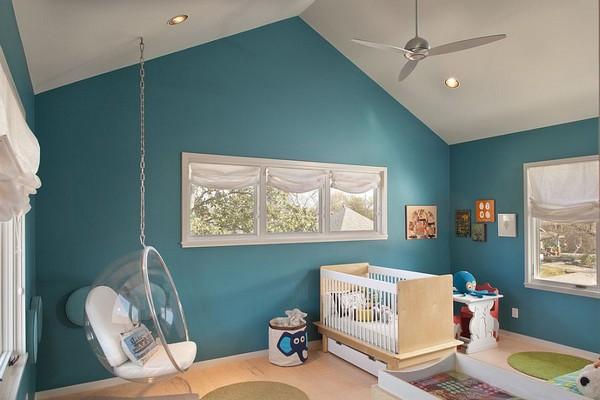 decoration chambre bebe bleu - visuel #5