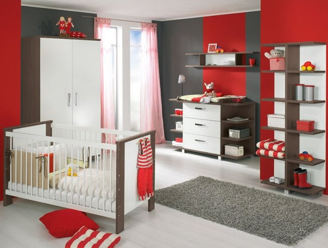 decoration chambre bebe rouge gris visuel 6. Black Bedroom Furniture Sets. Home Design Ideas