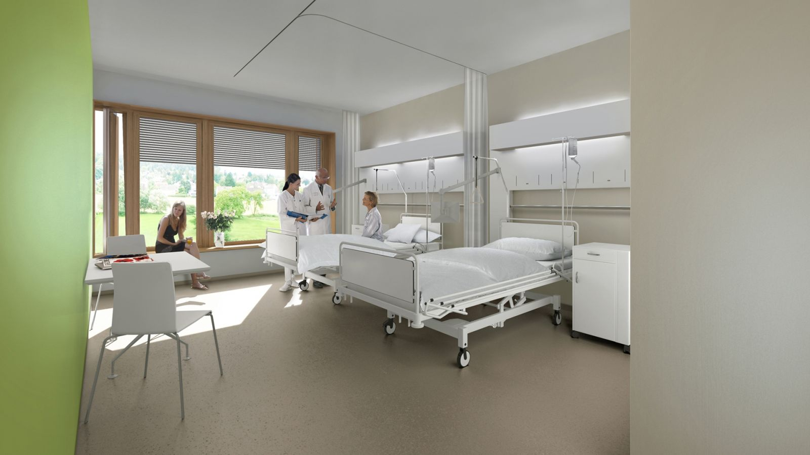 Decoration chambre hopital for Chambre image
