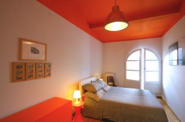 decoration chambre orange et marron - visuel #4