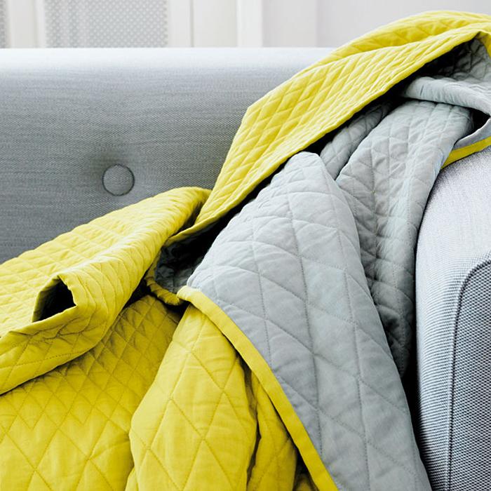 couvre lit jaune et gris Couvre Lit Jaune. parure couvre lit lulu jaune linge de lit de  couvre lit jaune et gris