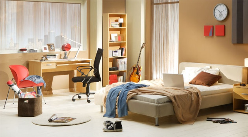decoration d une chambre d adolescent. Black Bedroom Furniture Sets. Home Design Ideas