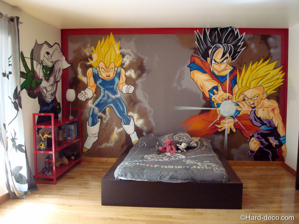 D coration chambre dragon for Decoration dragon ball