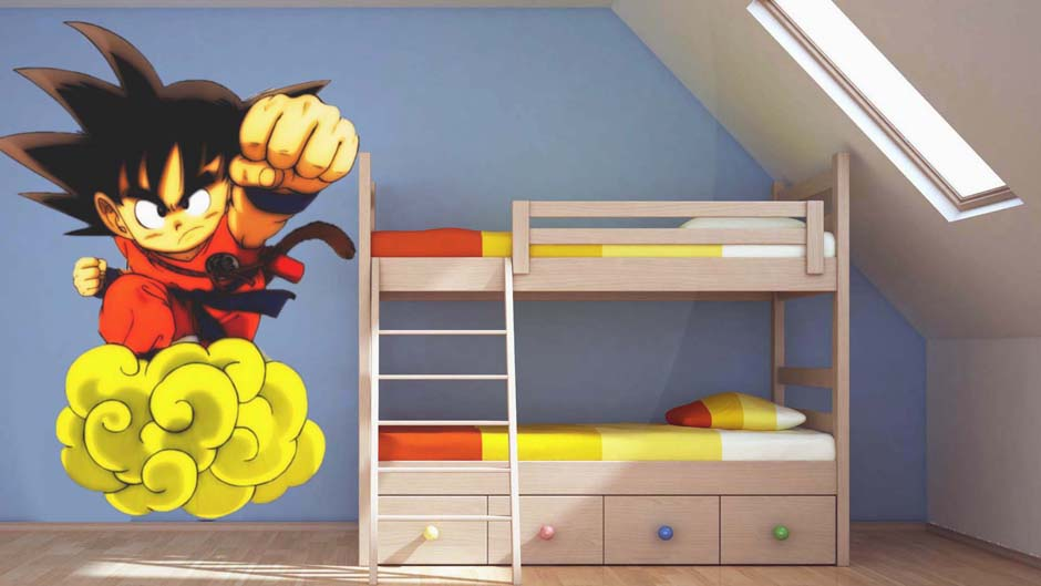 D co chambre dbz for Decoration murale dragon ball z