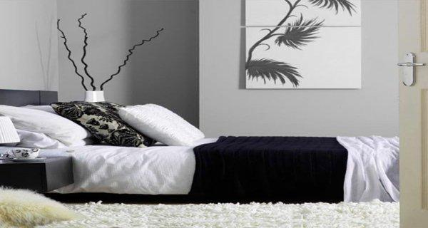 Decoration pour chambre en noir et blanc for Deco noir et blanc chambre