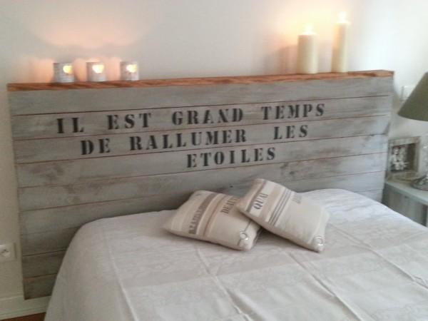 decoration tete de lit en bois  visuel #1