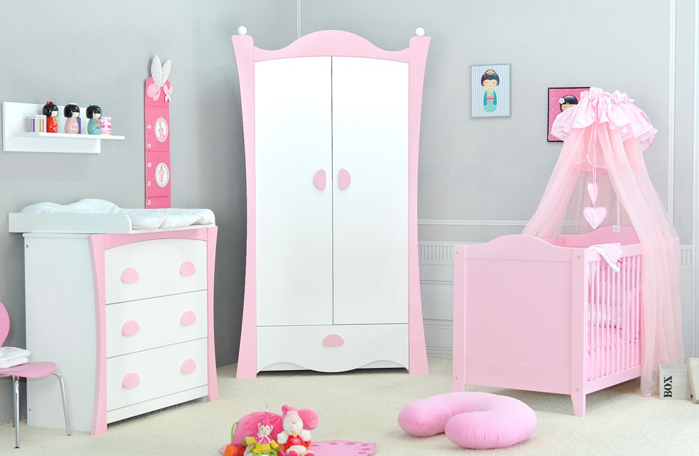 Lit b b fille pas cher for Photo de chambre de bebe fille