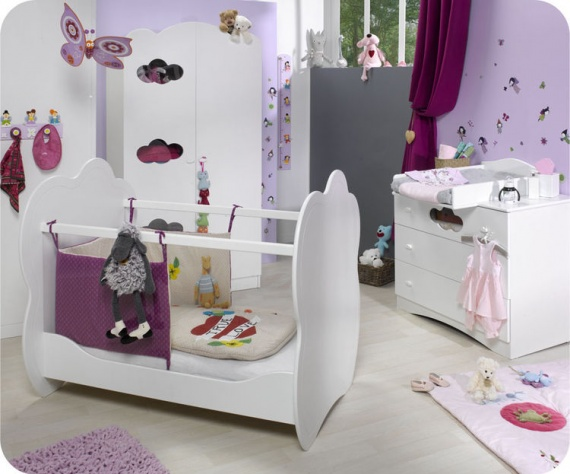Idee de deco pour chambre de bebe fille for Photo decoration chambre bebe fille