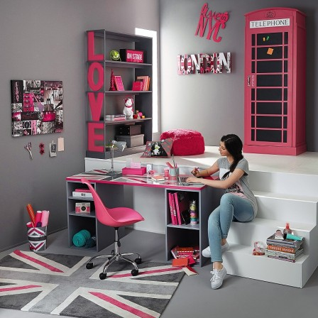 d coration chambre ado fille 12 ans. Black Bedroom Furniture Sets. Home Design Ideas