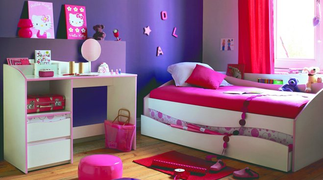 chambre de petite fille verte avec des id es int ressantes pour la conception de. Black Bedroom Furniture Sets. Home Design Ideas
