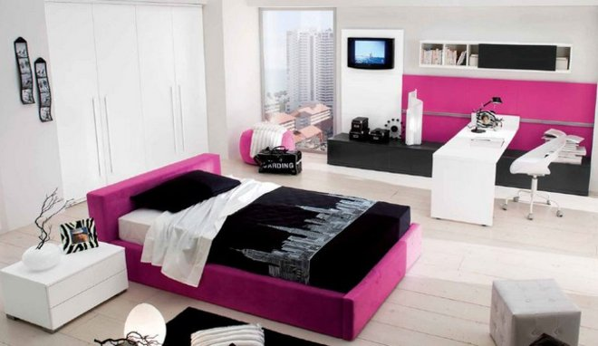id es d co chambre jeune femme. Black Bedroom Furniture Sets. Home Design Ideas
