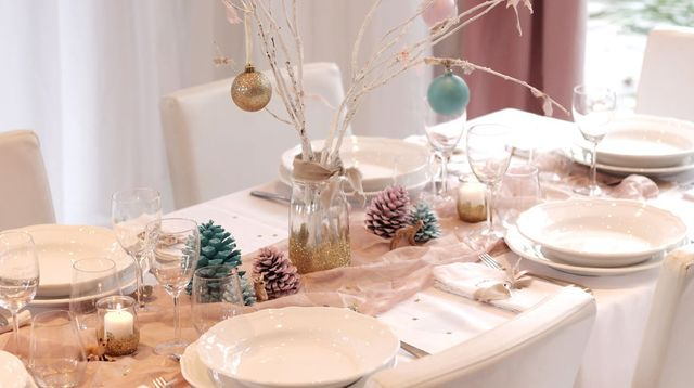 Deco table nouvel an a faire soi meme - Idee deco table de noel a faire soi meme ...