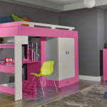 lit mezzanine avec bureau pour fille