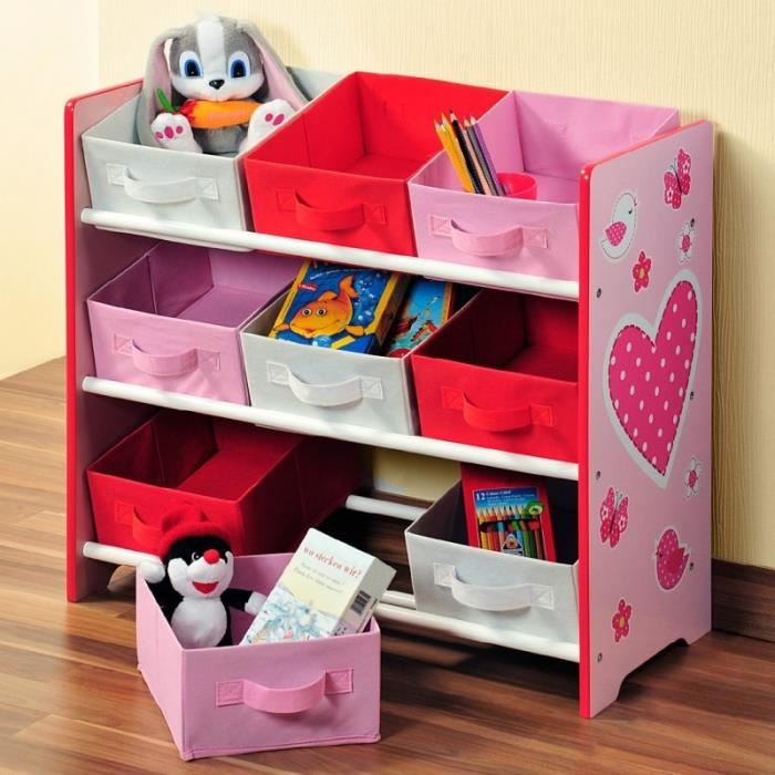 etagere de rangement fille. Black Bedroom Furniture Sets. Home Design Ideas