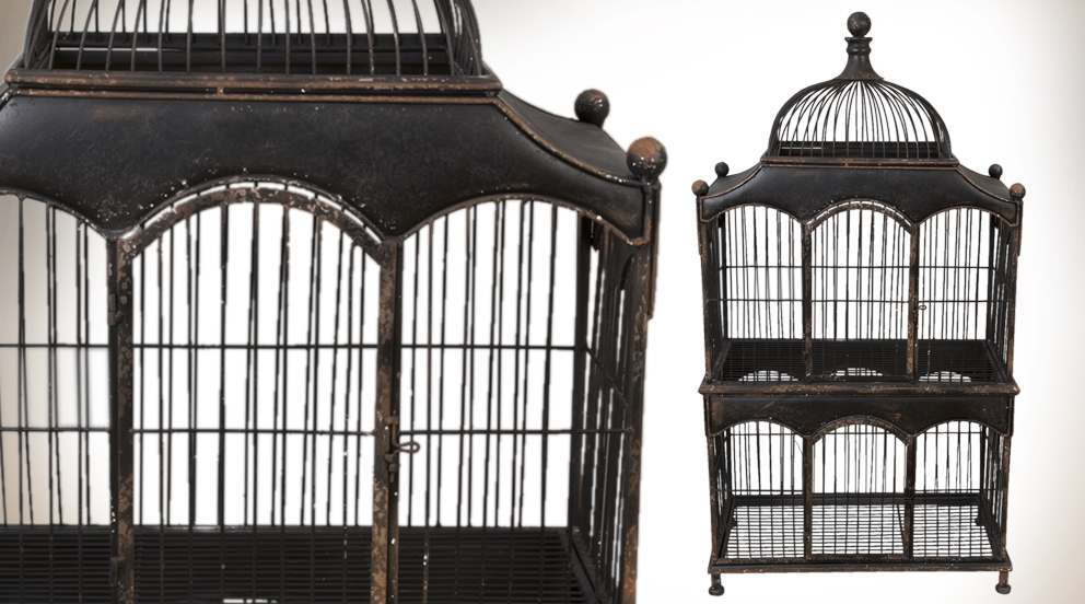 cage oiseau fer forge deco visuel 5. Black Bedroom Furniture Sets. Home Design Ideas