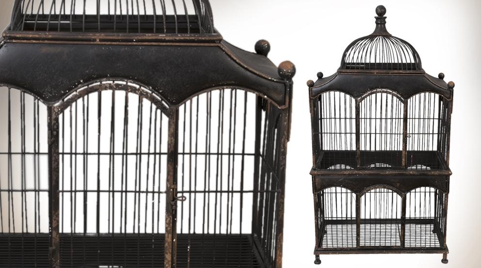 Cage oiseau fer forge deco visuel 5 - Petite cage oiseau deco ...