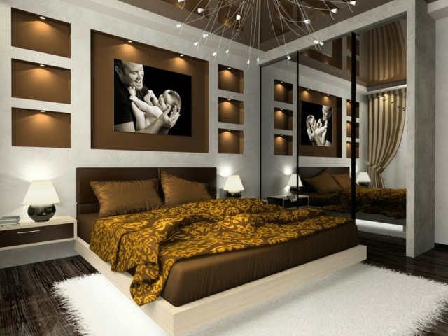 Chambre deco marron visuel 5 - Deco chambre marron ...