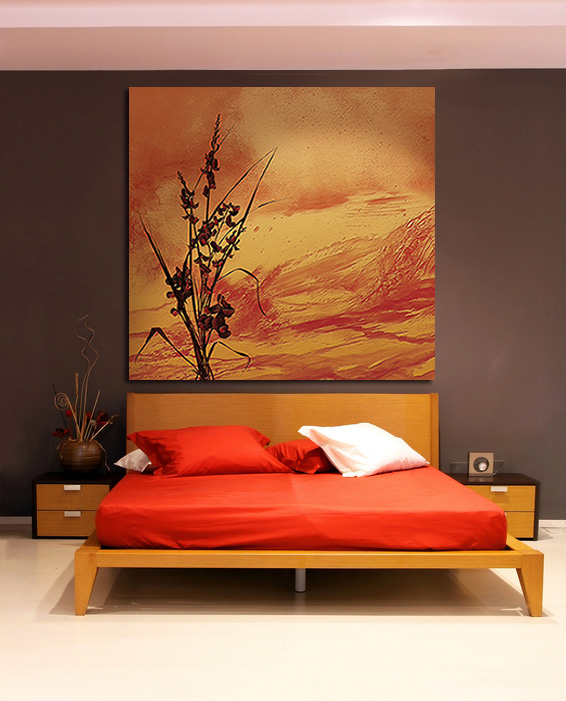 chambre deco orange. Black Bedroom Furniture Sets. Home Design Ideas