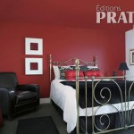 chambre deco rouge et noir - Chambre Rouge Et Noir