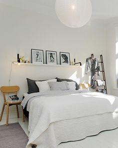 chambre deco scandinave visuel 5. Black Bedroom Furniture Sets. Home Design Ideas