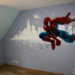 chambre deco spiderman