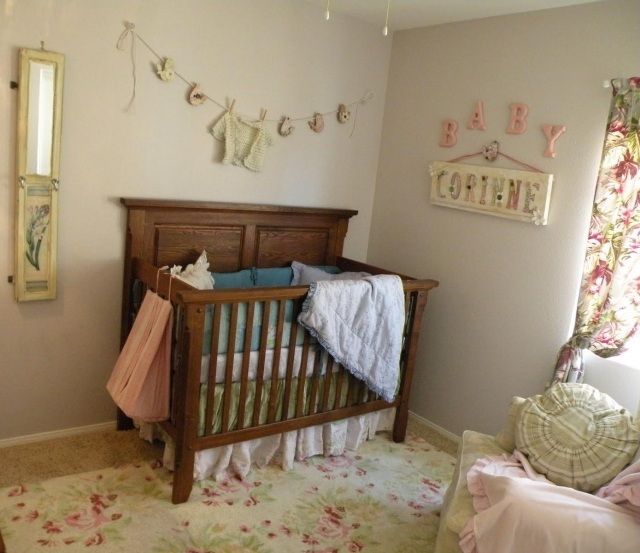 Deco chambre bebe fille vintage for Photo decoration chambre bebe fille