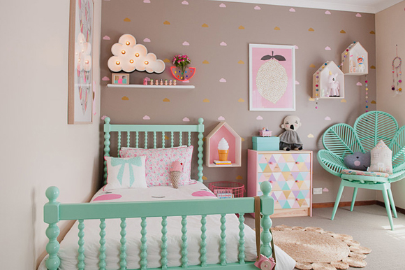 deco chambre bebe fille vintage visuel 1. Black Bedroom Furniture Sets. Home Design Ideas