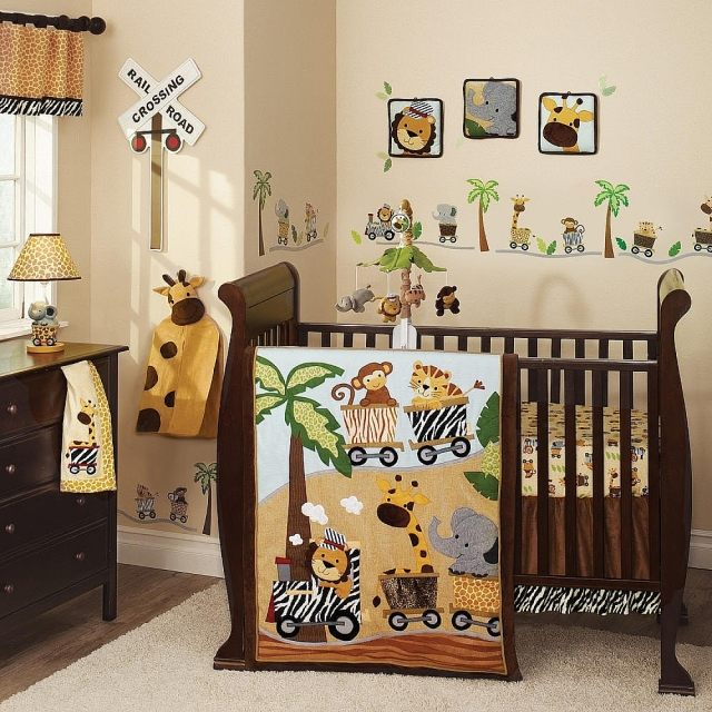 deco chambre bebe garcon jungle. Black Bedroom Furniture Sets. Home Design Ideas