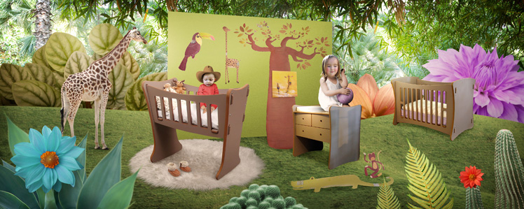 Deco chambre bebe garcon jungle for Stickers deco chambre garcon