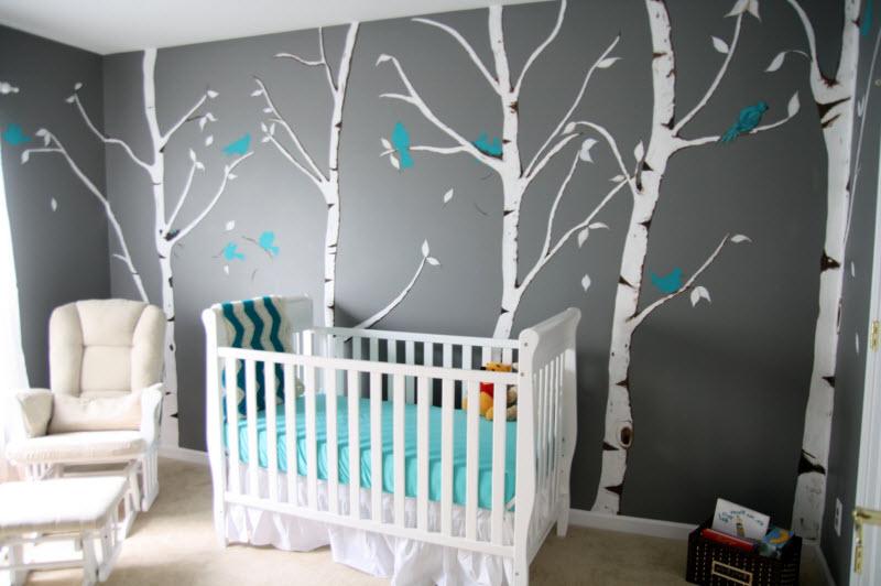 deco chambre bebe gris et bleu visuel 3. Black Bedroom Furniture Sets. Home Design Ideas