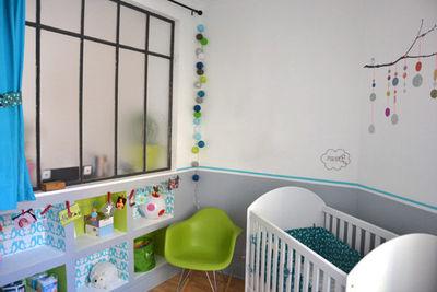 deco chambre bebe gris et bleu - visuel #8